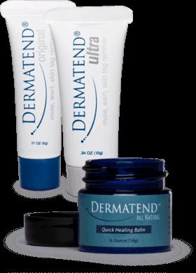 DermaTend packaging tube and jar