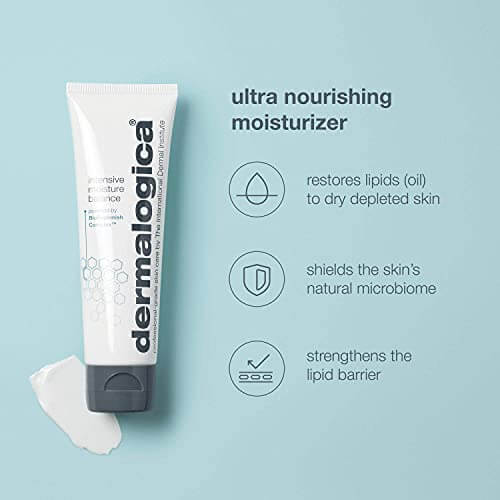 Dermalogica Intensive Moisture Balance (3.4 Fl Oz) Face Moisturizer with Hyaluronic Acid - Restores Balance to Dry, Depleted Skin for Optimal Barrier Performance