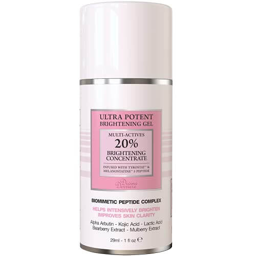 Dark Spot Corrector Remover Serum for Face Melasma Treatment Fade Cream with Tyrostat Peptide, Kojic Acid, Alpha Arbutin, Mulbеrry Extrаct, Lactic Acid Serum Peel (1oz)
