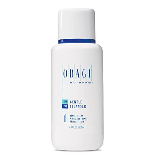 Obagi Nu-Derm Gentle Face Cleanser for Normal to Dry Skin, Daily Facial Cleanser Gently Removes Dirt, Oil, Makeup, and impurities, 6.7 Fl Oz